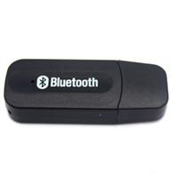 bluetooth alıcı jakı toptan satış-Toptan-3.5mm Jack USB Kablosuz Bluetooth Müzik Ses Alıcısı Dongle Adaptörü Aux Araba PC için Iphone Samsung IOS / Android Telefon