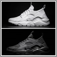 Wholesale Iv 11 - 2017 Original air Huarache 4 IV Ultra Run Mens Running Shoes Black White red top quality womens Sneakers Sports Shoes size US 5-11