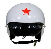 Atacado- Novo Motorcycle / Scooter capacete Air Force Jet PILOT Flight helmet Matte Blacks