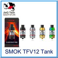 Wholesale King Baby Wholesale - SMOK TFV12 Tank Cloud Beast King 6.0ml Top Refilling Sub Ohm TFV12 Atomizer Fit V12-T12 V12-X4 V12-Q4 VS TFV8 Baby TANK