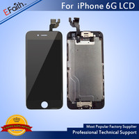 Atacado-Para o iPhone 6 Full Complete Black LCD com digitalizador Bezel Frame + Home Button + Front Camera Full Assembly Free Shiping