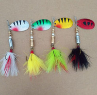 Wholesale Catfish Lures - 1 PCS 9cm Spinner Baits Sequin Spoon Metal wobble Fishing Lures CrankBait Bass wobbler Tackle Hook for perch striped Catfish