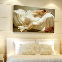 figure des femmes d'art achat en gros de-Chambre Peintures à l'huile Scénographie Décoration de peinture Image Décoration sans cadre Imprimé Imprimé Art mural Art décoratif Maison Main Femme