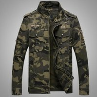 männer militärische mäntel groihandel-Neuer Mann-Baumwollmantel-Tarnung-Militärkampf-dünne zufällige Jackenmantel outwear