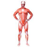 disfraces de cuerpo completo para halloween al por mayor-Envío gratis Attack on Titan Disfraces Lycra Spandex skin Tight Suit Halloween Body de cuerpo completo para Unisex