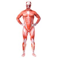 ingrosso costumi del corpo intero per halloween-Spedizione gratuita Attack on Titan Costumes Lycra Spandex skin Tight Suit Halloween Full Body Body per unisex