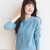 Wholesale Thick Girls Clothing - Wholesale-Women Sweater 100% Cashmere Knit Pullover 2016 New O neck Clothes Thick Winter Warm Tops Hot Sale Girl Skirts Ladies clothes