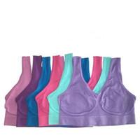 бесшовный пуловер из микрофибры оптовых-Высокое качество сексуальное нижнее белье бесшовные дамы ahh бюстгальтер размеры спорт йога бюстгальтер из микрофибры пуловер бюстгальтер форма тела 9 цветов 6 размер
