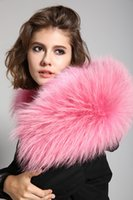 ingrosso cappuccio per donna-2017 Real Raccoon Hooded Fur Parka donne Fashion Biggest Bont Fur Parka donne addensare Cappotto invernale staccabile