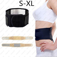 Wholesale Tourmaline Bands Wholesale - Adjustable Tourmaline Self-heating Magnetic Therapy Waist Belt Lumbar Support Back Waist Support Brace Double Banded Aja Lumbar S-XL