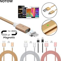 Wholesale nylon woven high quality a micro usb charging cable high speed magnetic adapter for type c android Mobile phone