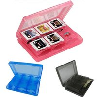 For NDS Carrying Case PVC 4 Color 28 in 1 Protective Game Card Cartridge Holder Case Box For Nintendo 3DS XL LL for DS Lite DSi DHL FEDEX FREE SHIPPING