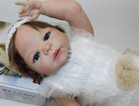 Wholesale Best Realistic Silicone - 23Inch Reborn Baby Doll Full Silicone Vinyl Realistic Baby Girl Fashion Baby Alive Dolls Kid Best Playmate