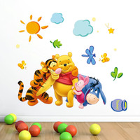 Wholesale Decorations For Kids Rooms - Free Shipping Winnie the Pooh Removable Home Decor Wall Decal Sticker for Kids Nursery Decoration hot