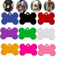 Wholesale Engraved Necklace Name - New Free engraving Dog Pet ID Tags Cat Name Dog Necklace Tag Pets Identity Card For Pets Fashion Key Chain ID Card I085