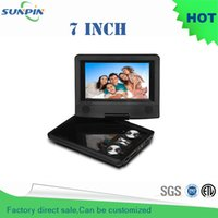 Wholesale Sale Free Dvd Player - Wholesale- Free shipping ! Factory direct sales HOT 7 Inch Portable DVD Player 270Degree Rotating Support SD   MS   MMC Card