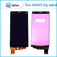 Lcd Front Screen Preise Kaufen -100% getestet für SONY Z3 Mini Front LCD Display Touchscreen Digitizer Assembly Komplette Qualität Factory Preis