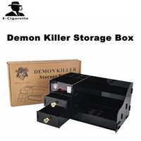 Wholesale Wholesale Storage Products - Demon Killer Storage Box for ecig products M L Size Black Clear Color DHL Free Shipping