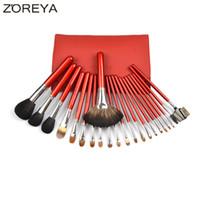 Wholesale 22pcs Makeup Brushes - Zoreya Brand 22pcs Sable Hair Professional Makeup Brush Set High Quality Make Up Brushes Fan Powder Eyeshadow Makeup Brushes 2017