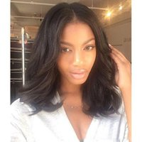 Wavy Lace Front Cheveux Humains Bob Perruques pour Femmes Noires Peruvian Glueless Lace Front Wigs with Baby Hair