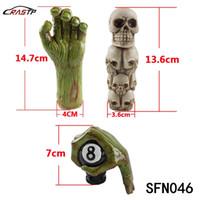 kit diablo al por mayor-RASTP-Envío gratis Hollaween Gift New Shift kits Green Devil hand Gear Shift Knob TripleSkull Head Shift Knob 3 Opciones LS-SFN046