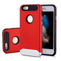 Wholesale Iphone 5s Cases Durable - For Iphone 6 6s 7 Plus PC TPU Durable Protective Electroplated Slim Phone Case Cover For Iphone 5 5s SE With OPP BAG