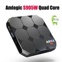 Wholesale wifi display tv box - Amlogic S905W A95X R2 Android 7.1 TV BOX 2GB 16GB Quad Core LCD Display HD 4K 3D WiFi Media Player IPTV Boxes Better S905X X96 Mini+