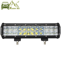 Wholesale 12v Spot Lights Auto - XuanBa 12 inch 120W 5D LED Work Light Bar for Auto Tractor Boat OffRoad 4WD 4x4 Truck SUV ATV Spot Flood Combo Beam 12V 24v Barra Led Lamp