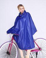 Wholesale Car Battery Electric Bicycle - Raincoats Electric cars raincoat Korean fashion single motorcycle battery car poncho increase bicycle raincoat poncho hat 31621
