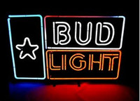 "Wholesale bud light commercials - New BUD LIGHT Real Glass Neon Light Beer Sign 17""X14"""