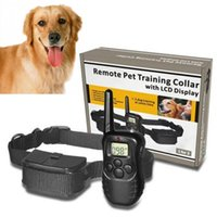 Wholesale Small Yards - Hot Sale NEW 988D 300M LCD 100LV 300 Yard Level Electric Shock Vibration Remote Anti Bark Pet Dog Training Collar