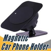 telefone celular magnético venda por atacado-Suporte magnético do telefone do ímã da montagem do painel do suporte do telefone do carro do suporte com adesivo para o telemóvel universal
