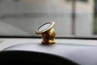 вращение магнита оптовых-Универсальный магнитный вращающийся на 360 градусов мини-автомобильный держатель вентиляционного отверстия из алюминиевого сплава с металлическим магнитом для настольного крепления для iPhone сотовых телефонов Samsung