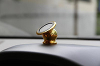 araba hücresi toptan satış-Evrensel Manyetik 360 Derece Rotasyon Mini Araba Hava Firar Tutucu Alüminyum Alaşım Metal Mıknatıs Masaüstü Dağı iPhone Samsung cep telefonları için