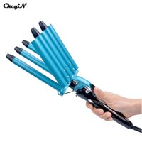 Wholesale Hair Wavers - ceramic curler Pro Nano Titanium 5 Barrels Five Pipe Joint Big Hair Wave Waver Ceramic Curler Curl Curling Irons Hairstyle Tools HS11 S4747