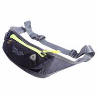 "Wholesale Blue Security Key - Waterproof Running Sports Waist Bag Women Men Bum Zippered Waist 5.5"" Mobile Phone Holder Pouch Security Money Key Bag free shipping"