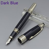 Wholesale Gift Boxes For Pens - hot sell JFK M nib Fountain pen with Silver Clip school office stationery luxury Writing ink pens for gift M8