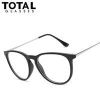 dünne runde brille großhandel-Wholesale-Fashion Round Keyhole Vintage Klare Linsen Gläser Männer Frauen Designer Marke Metall Dünne Beine Eyewear