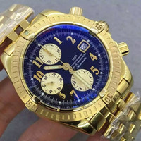 Wholesale chronomat automatic watch resale online - 44mm automatic chronograph working chrono stopwatch men watch sapphire crystal wristwatch watches CHRONOMAT PILOT