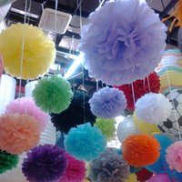 "Wholesale Craft Pompoms - 6""(15cm) Paper PomPoms Tissue Flower Balls decorative flower for home wedding event birthday party crafts Supplies"