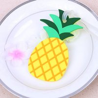 Wholesale Baggage Identification - New cute pineapple type luggage tag Safety identification bag tag baggage tag creative wedding decoration DH12