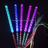 100pcs 26cm multi colori led Glow stick led wedding party flash light Luci giochi di Natale Sticks bacchetta magica