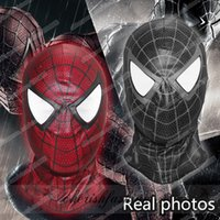 Wholesale Spider Mask - Hot sale New Spider Man 3 Venom The Amazing Spider Man mask Balaclava Hood Cosplay Motorcycle Halloween Full Face Mask M226