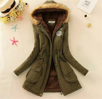 Wholesale ladies feather down jackets - women down parkas lady winter clothing girl's outerwear Faux fur lining women's fur jackets Overcoat coat coats Tops