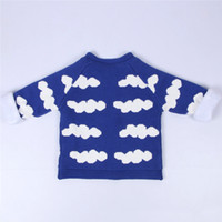 Wholesale Spring and Autumn kids clothing pure cotton baby boys and girls sweater children cardigan sweater with warm cashmere