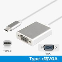 типы разъемов vga оптовых-USB 3.1 Type-C к VGA адаптер конвертер видео кабель мужчин и женщин разъем 1080PP HD для ноутбука Macbook