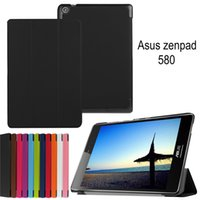 "Wholesale Tablet Screen Magnetic Covers - Magnetic Stand Custer leather Case Flip Cover For ASUS Zenpad S 8.0 Z580 Z580CA Z580C 8"" tablet cover cases Ultra Slim Thin"
