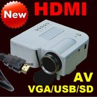 Wholesale Flash Drive Hdmi - Wholesale-Latest HDMI VGA AV HD projector LED mini projector mobile home computer's USB flash drive Free shipping