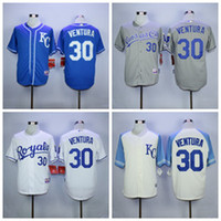 62b6df0d7 ... MLB Jersey Kansas City Royals Baseball Jerseys Flexbase 30 Yordano  Ventura Jersey KC Baby Blue Grey White with ...