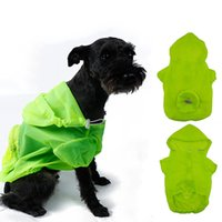 Wholesale Dog Uv - Pet Supplies Dog Nylon Raincoat Soft Comfort Dogs Clothes Waterfproof Sun UV Protection Cloth Blue Green Pink Colors 6 Sizes--S M
